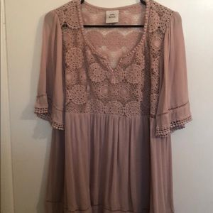 Dusty rose top with matching tank